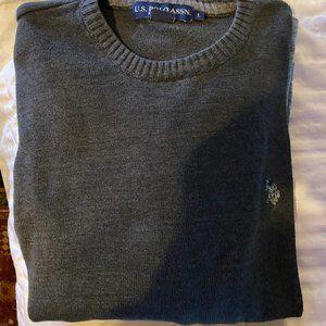 Grey Polo Crew neck Sweater